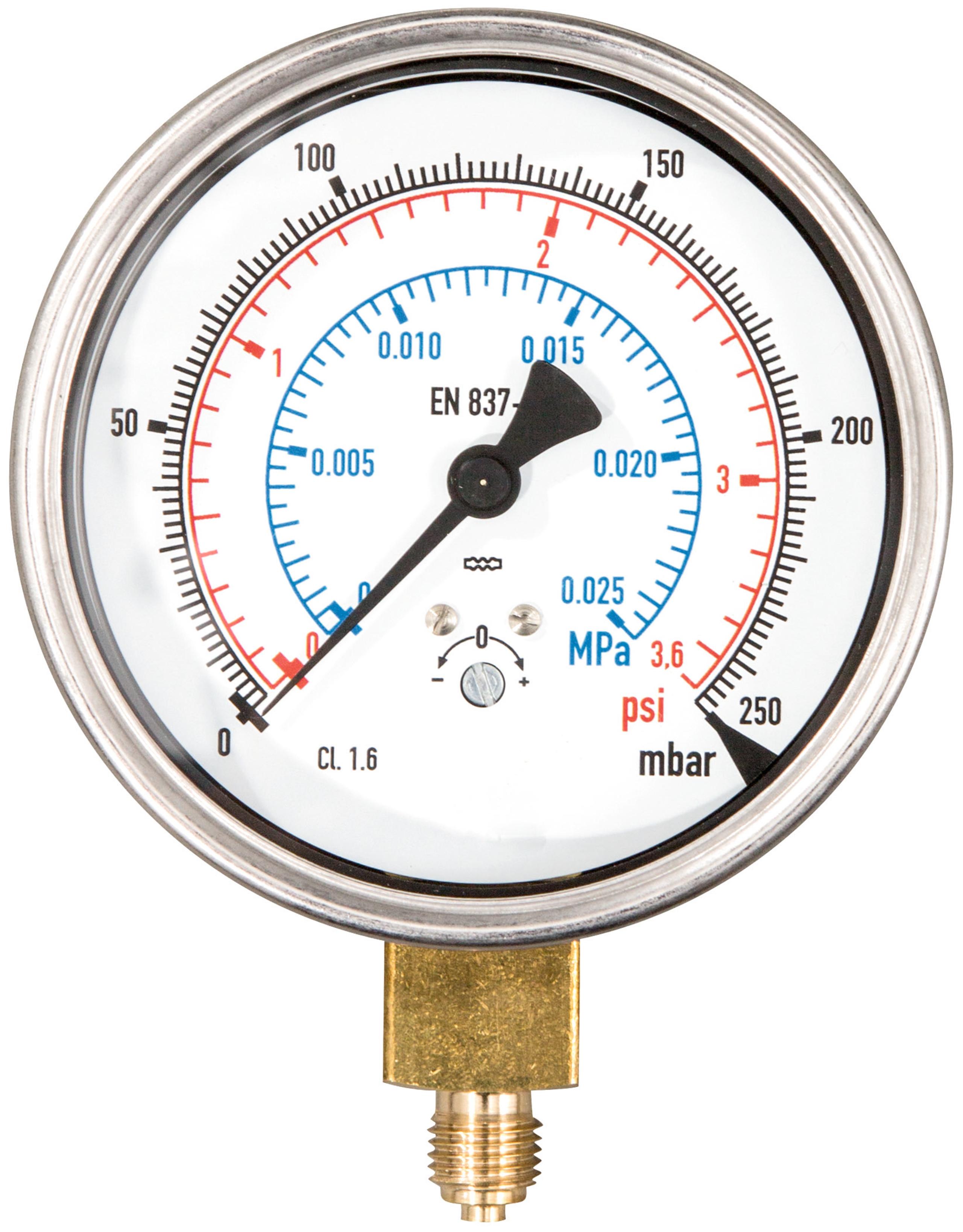 <br/>Manometer 250 mbar