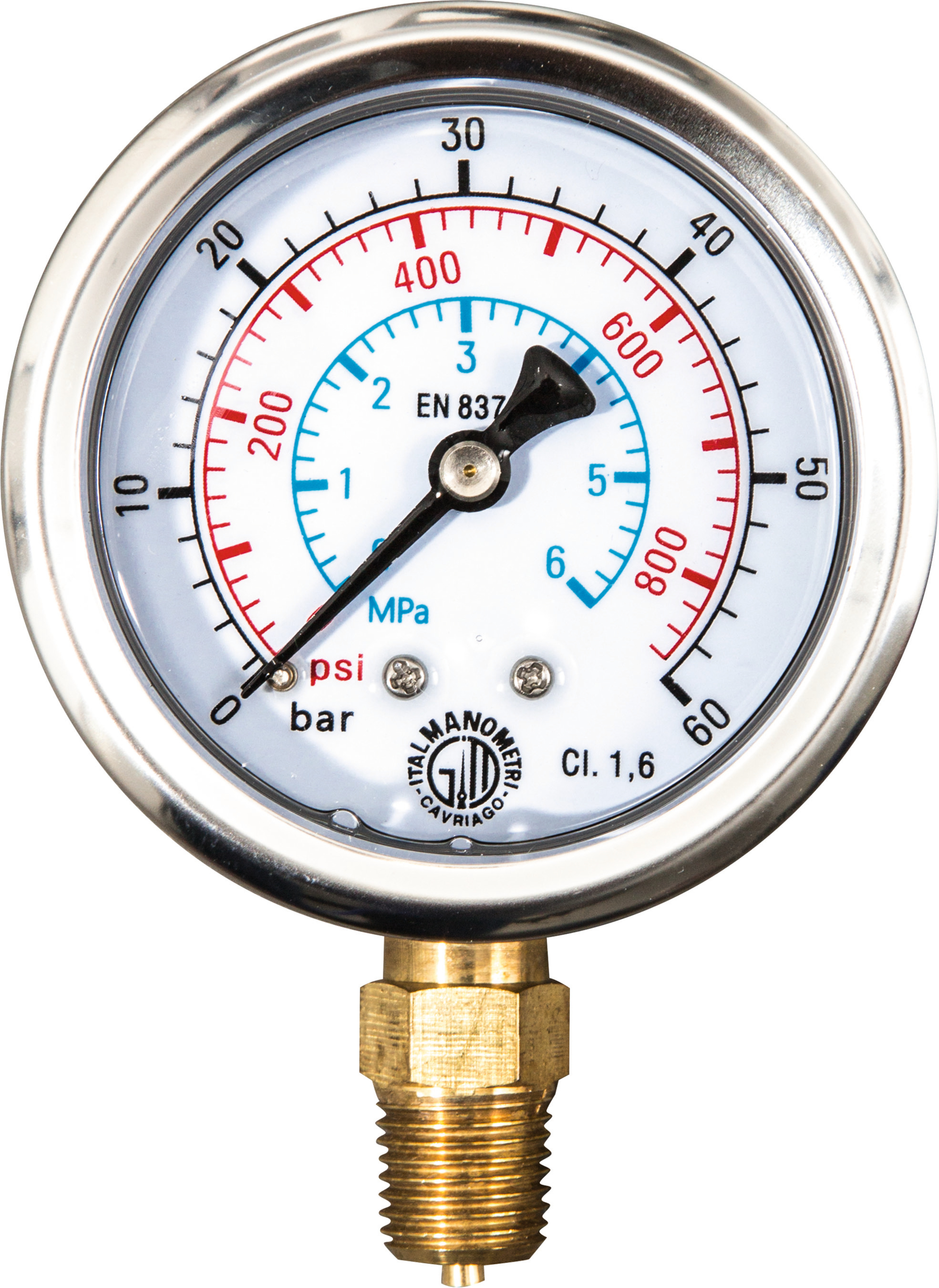 <br/>Manometer, 60 bar