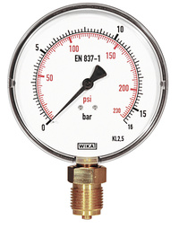 <br/>Manometer feinskaliert, 16 bar