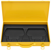 <br/>Steel case with insert