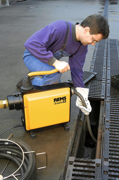 Rems cobra 22 32 elektryczne maszyny do czyszczenia rur - Desatascador de tuberias a presion ...
